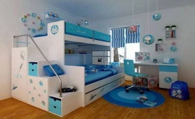 Impressive Kids Bedroom Ideas With Doraemon Themes13