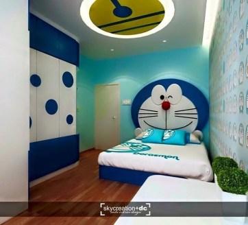 Impressive Kids Bedroom Ideas With Doraemon Themes38