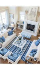 Inspiring Living Room Ideas With Beachy And Coastal Style22