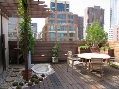 Inspiring Wooden Floor Design Ideas On Balcony For Your Apartment 12