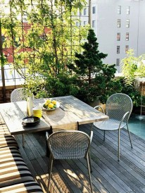 Inspiring Wooden Floor Design Ideas On Balcony For Your Apartment 32