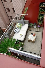 Inspiring Wooden Floor Design Ideas On Balcony For Your Apartment 40