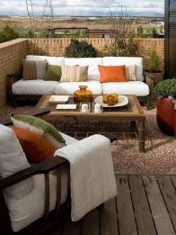 Inspiring Wooden Floor Design Ideas On Balcony For Your Apartment 42