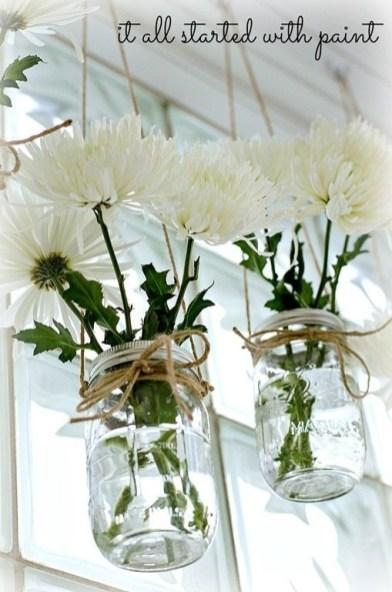 Lovely Window Design Ideas With Vase Flower Ornament12