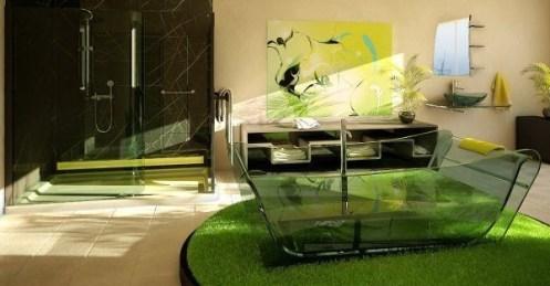 Relaxing Bathroom Design Ideas With Go Green Concept21