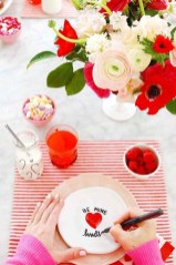 Beautiful Home Interior Design Ideas With The Concept Of Valentines Day34