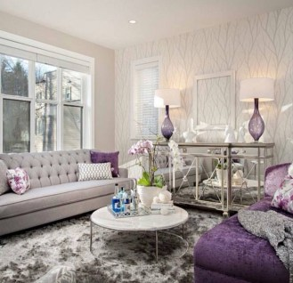 Modern Living Room Ideas With Purple Color Schemes08
