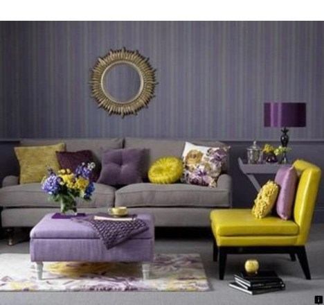 Modern Living Room Ideas With Purple Color Schemes16