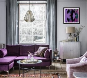 Modern Living Room Ideas With Purple Color Schemes28