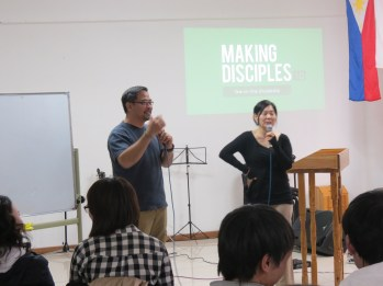 Dennis sharing at the Making Disciples Class.