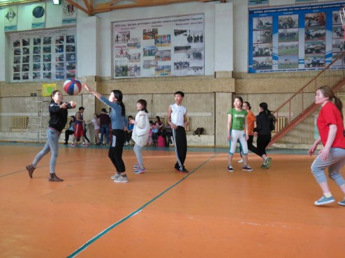 Basketball game after service.