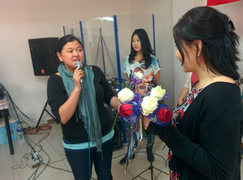 A surprise birthday celebration for Ptr. Oyuna after our second sunday service.