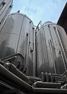 Conical fermenting vessels at Menabrea