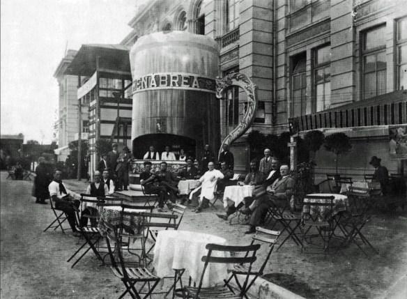 The Menabrea stand at the Esposizione Agricola Industriale di Vercelli in 1930