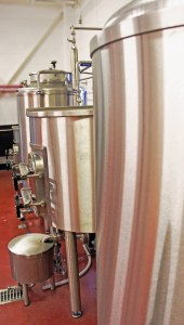 THe 'Wee George' microbrewery set-up at the Caley