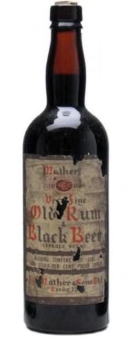 Rum & Black Beer bottle