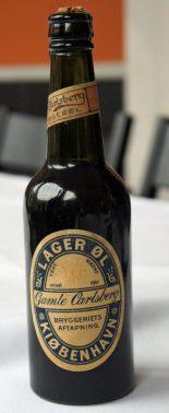 An 1883 Carlsberg beer bottle