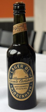 An 1883 Carlsberg beer bottle
