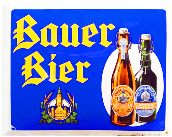 The Brauerei Ernst Bauer was founded in Leipzig in the 19th century and used as its logo the tower of Leipzig's town hall. It was nationalised in 1972, but privatised 20 years later. Brewing stopped in 2008
