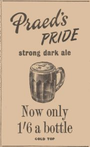 Praed's Pride ad from March 1952
