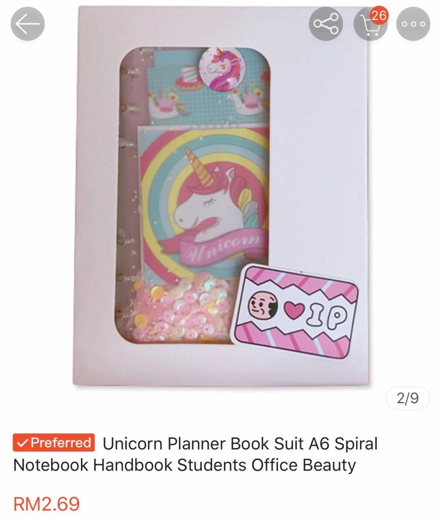 Unicorn Planner Harga Tak Logik
