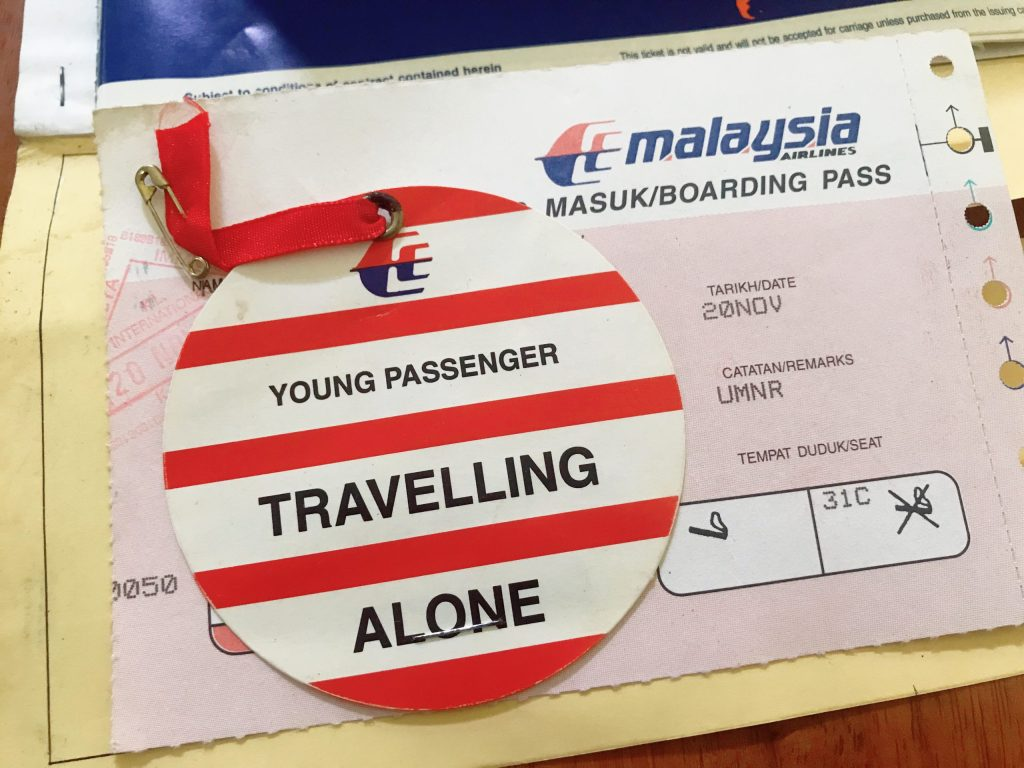 Young Passenger Travelling Alone