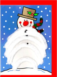 Pipecleaner Snowman 2303 - ZZ designs