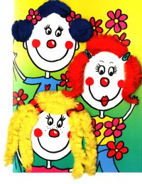 Pipecleaner-3 Girls-1835  ZZ designs